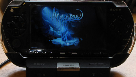Aquaria running on the PSP