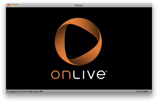 Connecting to OnLive