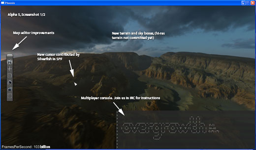 Alpha 5 annotated screenshot