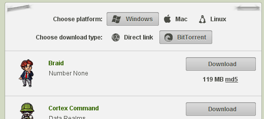 BitTorrent button