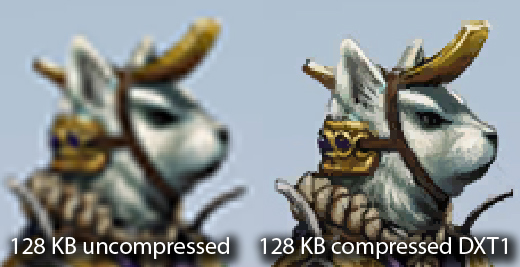Uncompressed vs. DXT1