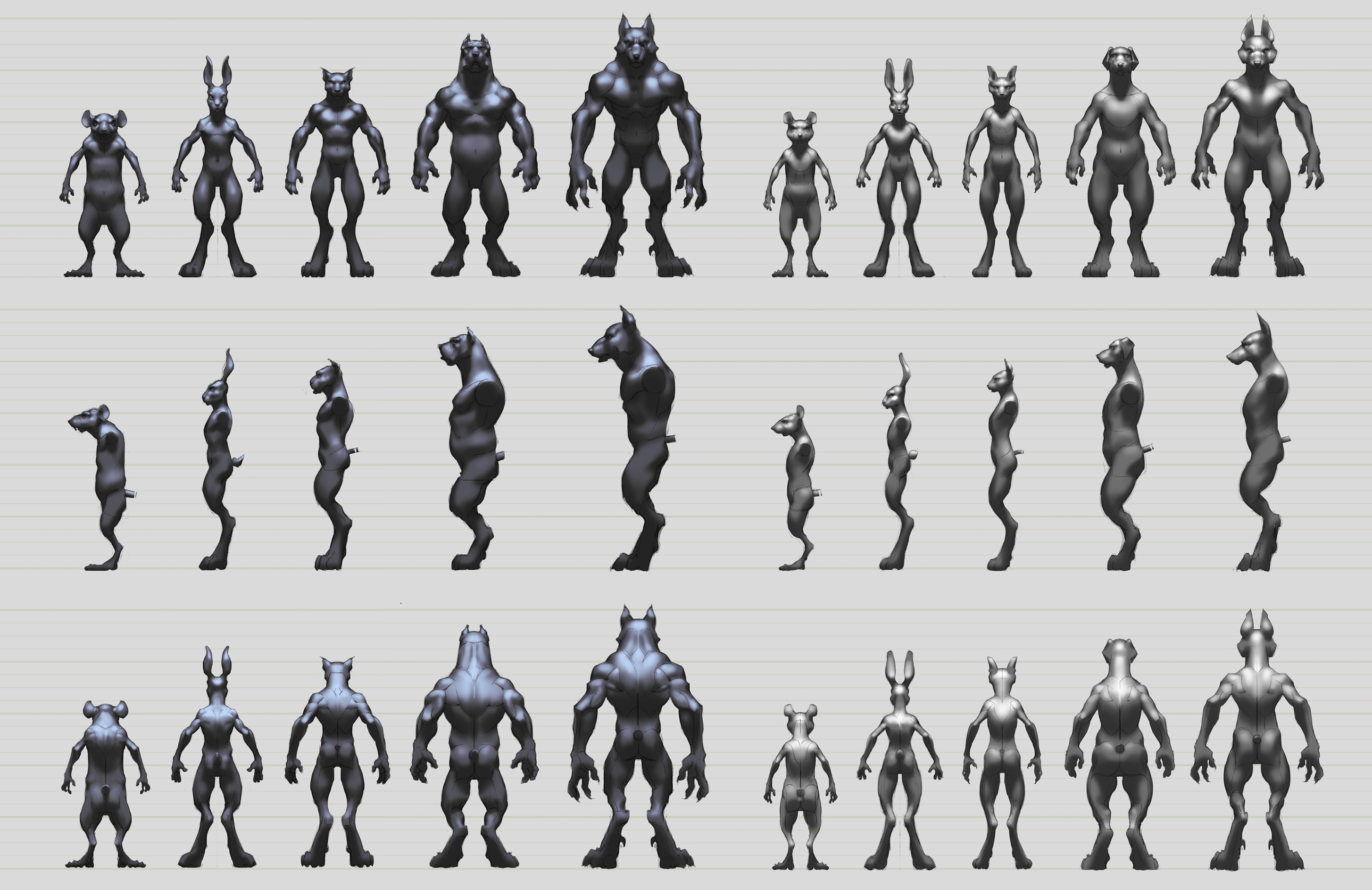 Character Design Proportions : Character design wolfire games