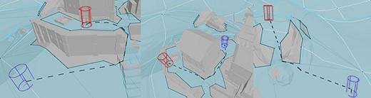 Detour navigation paths