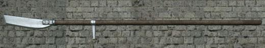 A bladed polearm called a glaive