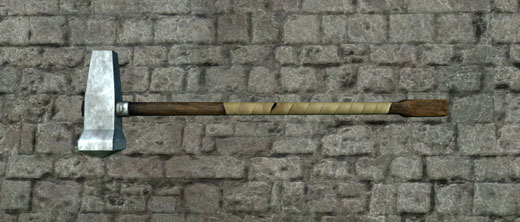 A massive war hammer