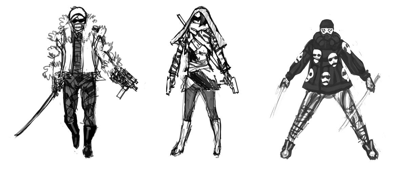 Cyberpunk ninja cyberpunk sketches wolfire games blog