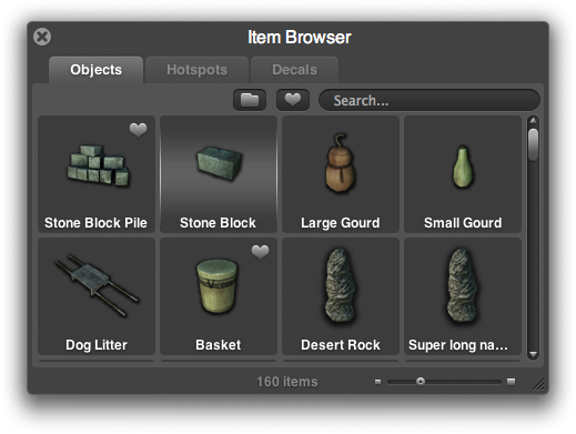 Overgrowth item browser