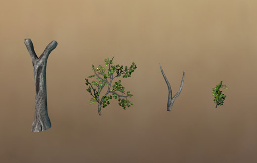 Some tree parts