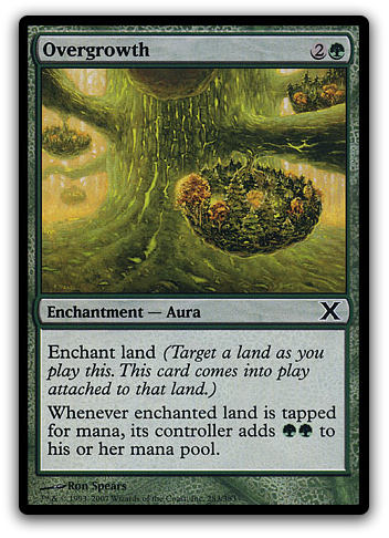 Overgrowth Magic Card
