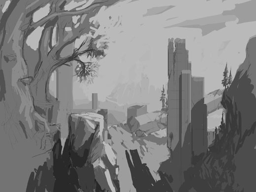 An early Overgrowth concept for the ruins