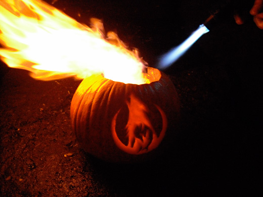 Wolfire Flaming Pumpkin